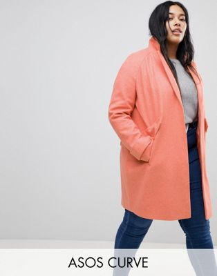 ASOS CURVE Pocket Detail Coat