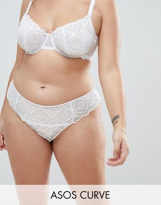ASOS CURVE Rita Lace Mix & Match Thong