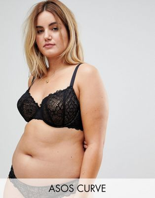 ASOS CURVE Rita Lace Mix & Match Underwire Bra