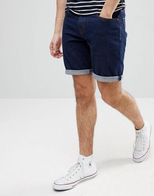 ASOS Denim Shorts In Slim Indigo