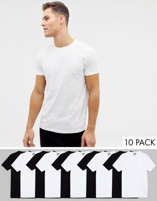 ASOS DESIGN 10 pack organic t-shirt with crew neck save