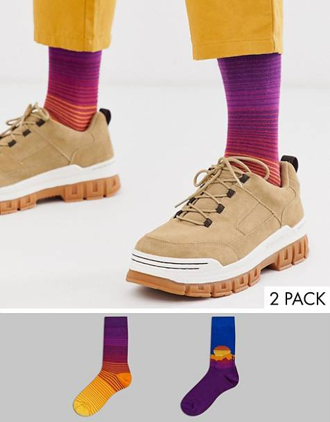 ASOS DESIGN 2 pack ankle sock with desert landscape design save