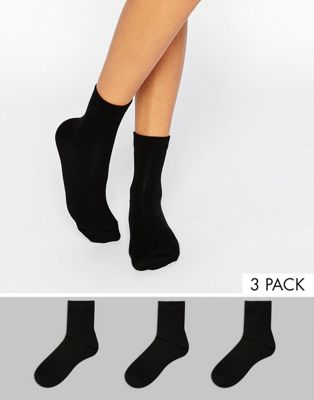 DESIGN 3 pack trainer socks - Black Asos