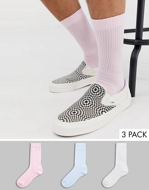 ASOS DESIGN 3 pack sport sock in pastel color save