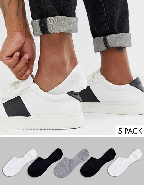 ASOS DESIGN 5 pack no show sock in monochrome save