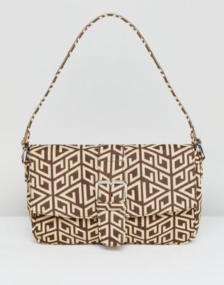 ASOS DESIGN 90s shoulder bag in monogram