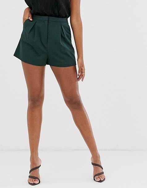 ASOS DESIGN a-line tailored short with pleat front