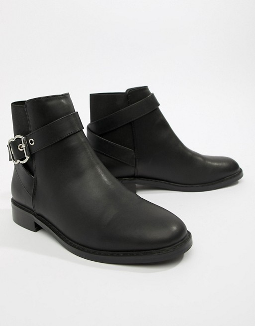 Image 1 of ASOS DESIGN Abena buckle ankle boots