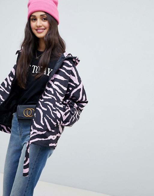 Image 1 of ASOS DESIGN animal print windbreak jacket