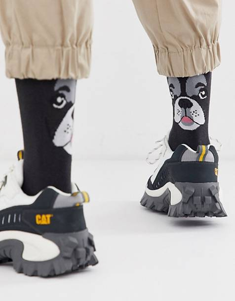 ASOS DESIGN ankle sock with pug face