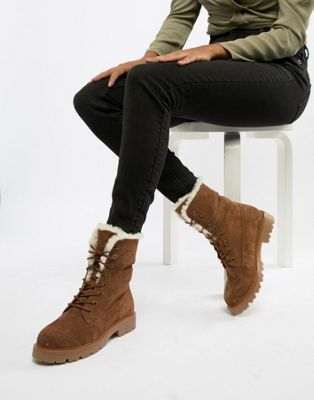 ASOS DESIGN Apex suede hiker lace up boots