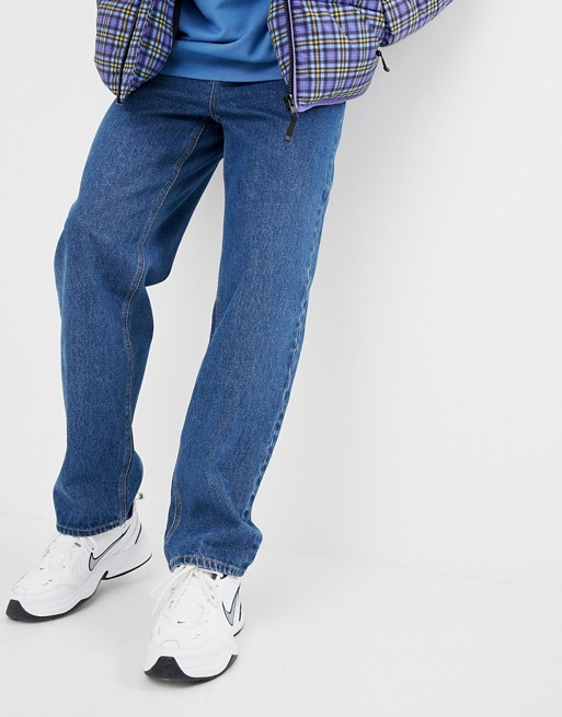 ASOS DESIGN baggy jeans in washed vintage mid wash