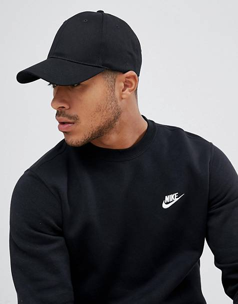ASOS DESIGN baseball cap in black
