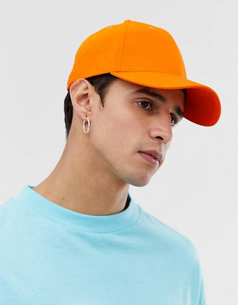 ASOS DESIGN baseball cap in neon orange