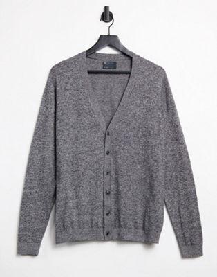 Bild 1 von ASOS DESIGN – Baumwollstrickjacke in Grau meliert