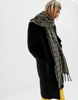 ASOS DESIGN blanket scarf in brown check
