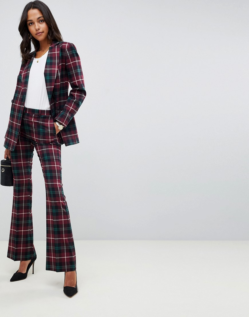 Asos Design Blazer In Highland Check by Asos Design