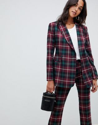 ASOS DESIGN - Blazer in highland-ruit