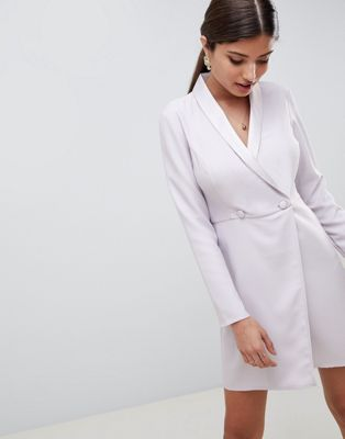 ASOS DESIGN blazer mini dress with buttons