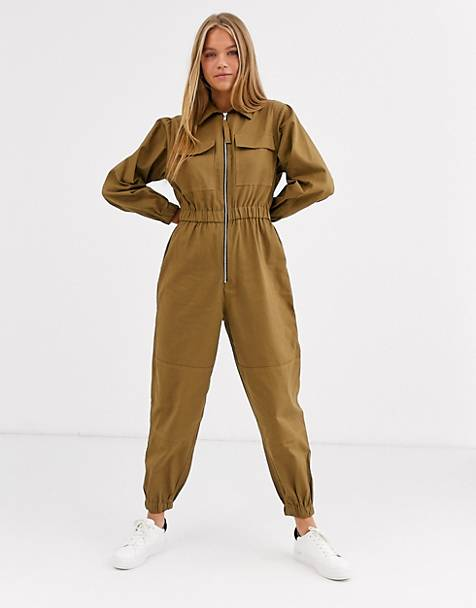 ASOS DESIGN boilersuit with zip