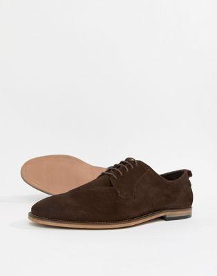 ASOS DESIGN – Bruna skor i mocka med snörning och naturlig sula