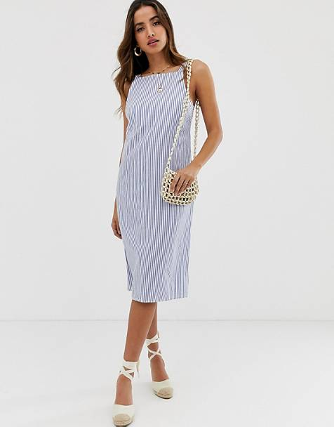 e0eb88bf9f ASOS DESIGN buckle back midi sundress in stripe