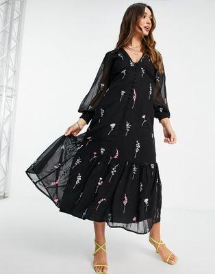 ASOS DESIGN lattice embellished maxi dress - ASOS Price Checker