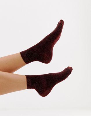 ASOS DESIGN - Calzini alla caviglia glitterati