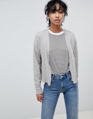 ASOS DESIGN cardigan in fine knit