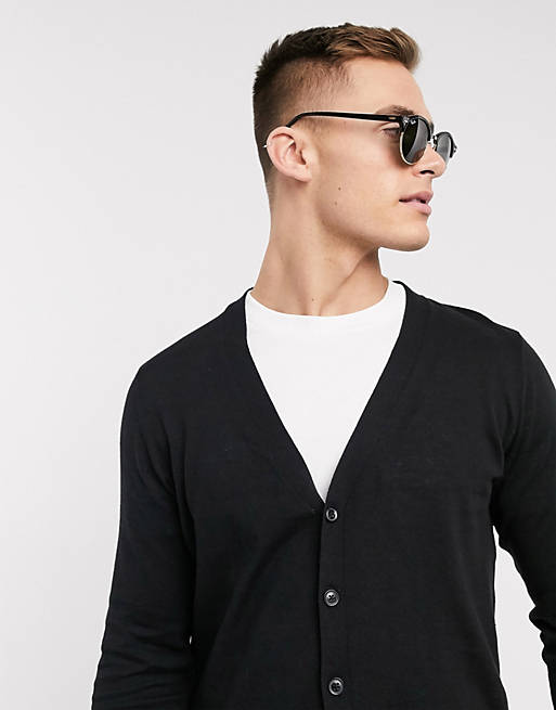 ASOS DESIGN - Cardigan in maglia nero