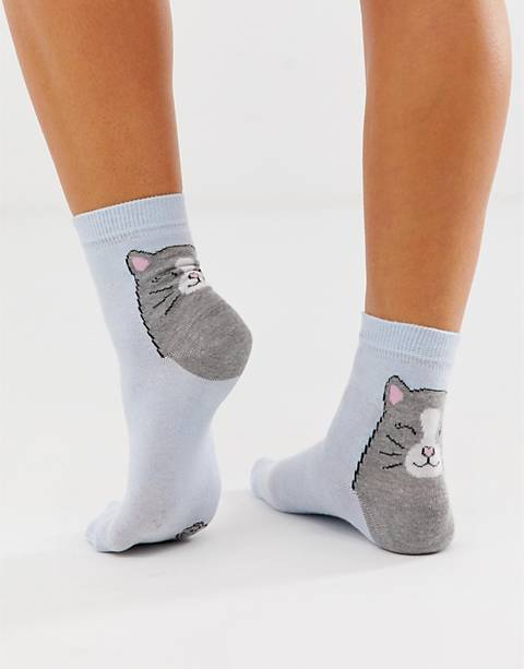 ASOS DESIGN cat and mouse ankle socks