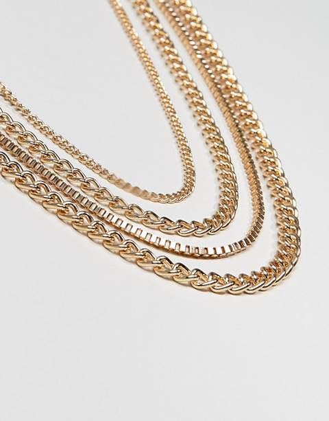 ASOS DESIGN chain pack in gold tone