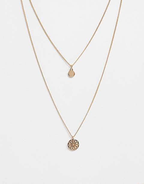 ASOS DESIGN chakra multirow necklace
