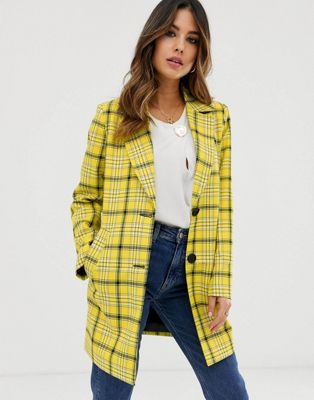 ASOS DESIGN check cropped slim coat