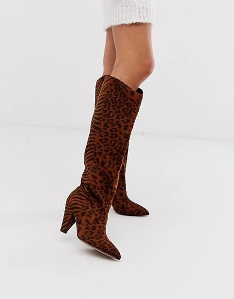 0c85908a46f Knee High & Long Boots | Flat Knee High Boots | ASOS