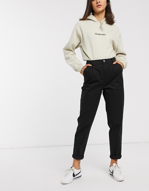 ASOS DESIGN chino trousers in black