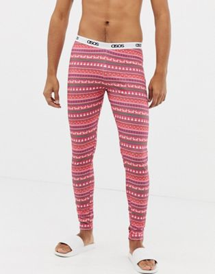 ASOS DESIGN Christmas meggings in fairisle print