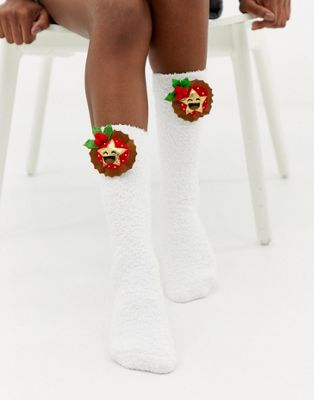 ASOS DESIGN Christmas mince pie cosy sock box