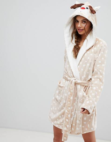 ASOS DESIGN Christmas reindeer robe