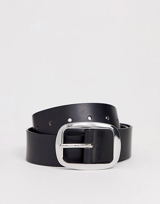 ASOS DESIGN - Cintura per jeans in pelle