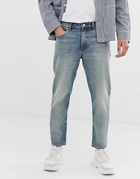 511e602d91 ASOS DESIGN classic rigid jeans in vintage dirty wash blue