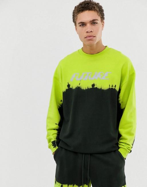 Sweat-shirt oversize coordonne avec Neon Wash & Future Print 1455892