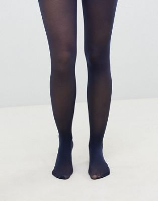 Image 1 sur ASOS DESIGN - Collants recyclés 40 deniers - Bleu marine