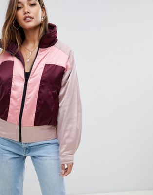 ASOS DESIGN colourblock bomber jacket