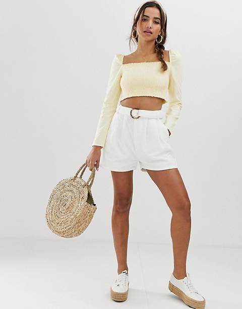 ASOS DESIGN cord belted safari short