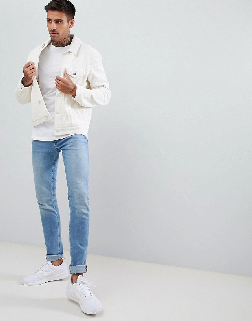 Asos Design Cord Jacket In Ecru by Asos Design