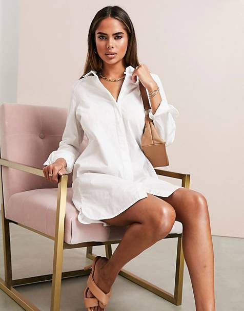 ASOS DESIGN cotton mini shirt dress