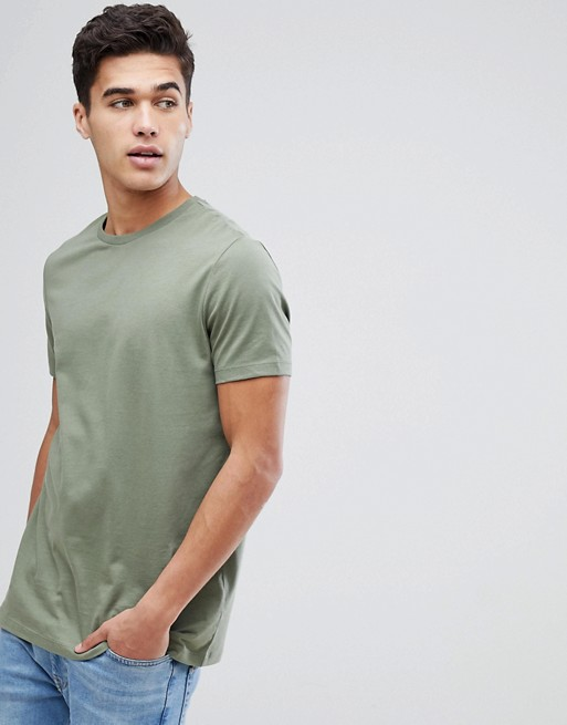 ASOS DESIGN crew neck t-shirt in green