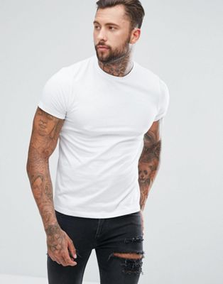 Image 1 of ASOS DESIGN crew neck t-shirt in organic cotton in white