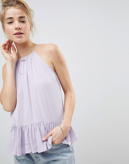 Image 1 of ASOS DESIGN Crinkle Trapeze Top